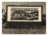 National Association of Manufacturers Billboard Campaigns Against New Deal Policies  1937