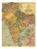 1902 Map of India  Then a Colony Within the British Empire  Showing Internal Boundaries