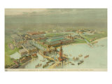 Birdseye View World's Columbian Exposition  Chicago  1893