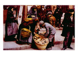 Italian Immigrants Selling Bread on the Streets of Manhattan  New York City  1902