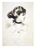 "1909 Drawing by Charles Dana Gibson  ""A Daughter of the South "" Shows a Classic Gibson Girl"