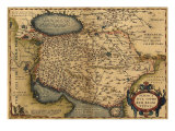 1570 Map of Persia  from Abraham Ortelius&#39; Atlas
