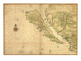 1650 Map of Baja California and Northwest Mexico  Showing California as an Island