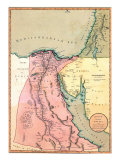 1803 Map of Egypt  with Part of Arabia and Palestine