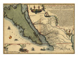 1720 Map of Baja California and Northwest Mexico  Showing California as an Island