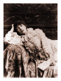 Sarah Bernhardt  French Actress  Reclining on a Divan in an 1880's Portrait