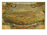 1885 Bird's Eye View of Phoenix  Arizona