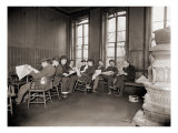Homeless Men in the Reading Room of a Dime a Night Bowery Lodging House in 1910