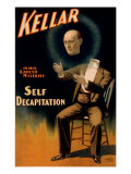 Harry Kellar  American Magician Performing His Self Decapitation Illusion  1897