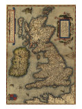 1570 Map of the British Isles from Abraham Ortelius  Theatrvm Orbis Terrarvm