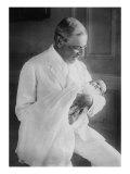 Woodrow Wilson with His First Grandchild  Ellen Wilson Mcadoo