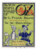 """Wonderful Wizard of Oz "" Title Page of First Edition Written by Frank Lyman Baum in 1900"