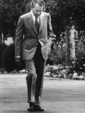 US President Richard Nixon Walking the Grounds of the White House Washington  DC  1971