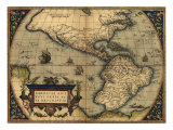 1570 Map of the Western Hemisphere from Abraham Ortelius  Theatrvm Orbis Terrarvm