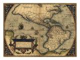 1570 Map of the Western Hemisphere from Abraham Ortelius  Theatrvm Orbis Terrarvm