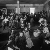 Immigrants Awaiting Examination at Ellis Island  1902