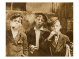 AM Monday  Newsies at Skeeter's Branch They Were All Smoking  St Louis  Missouri  May 9  1910