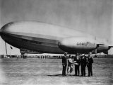 The LZ 129 Graf Zeppelin  and the Volunteer  a Goodyear Blimp  1930s