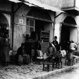 Coffee Shop with Gramophone  Jerusalem  1910s