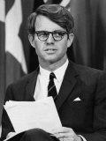 Senator Robert F Kennedy Waits to Address 14 500 Students  Kansas State University  March 25  1968