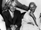 Charlie Chaplin and Mahatma Gandhi  London  England  September 22  1931