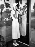 American Olympic Athlete Babe Didrikson  Trying on a Hat  Chicago  Illinois  1932