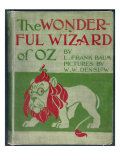 """Wonderful Wizard of Oz "" First Edition Book Cover  Written by Frank Lyman Baum in 1900"