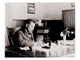 Booker T Washington  Writing at His Desk