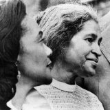 Civil Rights Activists Coretta King and Rosa Parks in Montgomery  Alabama  1975