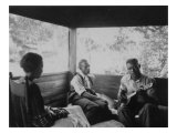 Zora Neale Hurston  Rochelle French  and Gabriel Brown  in Eatonville  Florida Recording  1935