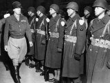 Lieutenant General George Patton  Inspecting Troops in the European Theatre of Operations  1944