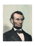 Abraham Lincoln  Hand Colored Lithography Published after Lincoln's Death in 1865