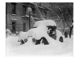 1920's Model Car Is Covered with Snow after a January 1922 Blizzard in Washington  DC
