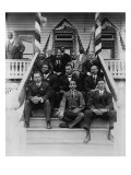 Booker T Washington  Second Row  Center  with His Associates at Tuskegee Institute  1915