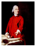 Samuel Adams  Portrait Depicting Adams Pointing to the Massachusetts Charter