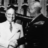 President Harry Truman  Shaking Hands with General George S Patton Jr  1945