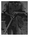 Alabama African American Tenant Farmer Holding a Hoe  June 1936