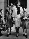 Caroline Kennedy  Jacqueline Kennedy  Sydney Lawford  at End of School Day  September 16  1964
