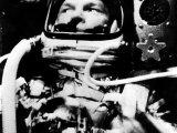 Astronaut John Glenn in His Space Capsule  February 20  1962