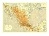 1914 Mexico Map