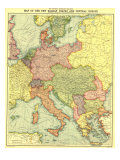 1914 New Balkan States and Central Europe Map