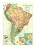 1921 South America Map