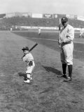 Babe Ruth and Mascot  1922