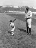 Babe Ruth and Mascot  1922