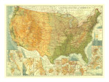 United States Of America Map 1923