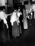 Women Immigrants Undegoing a Physical Examination  Ellis Island  New York  1910