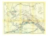 1914 Alaska Map Reproduction d'art par National Geographic Maps