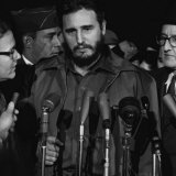 Fidel Castro Arrives Mats Terminal  Washington DC