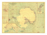 1932 Antarctic Regions Map