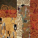 Deco Collage Detail (from Fulfillment, Stoclet Frieze) Reproduction d'art par Gustav Klimt